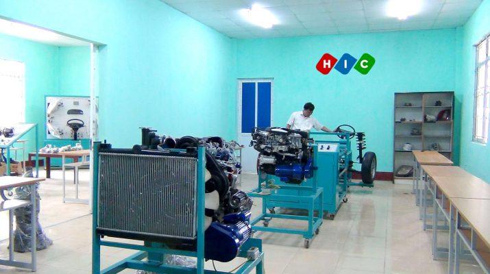 cơ sở vật chất phục vụ đào tạo ngành công nghệ ô tô