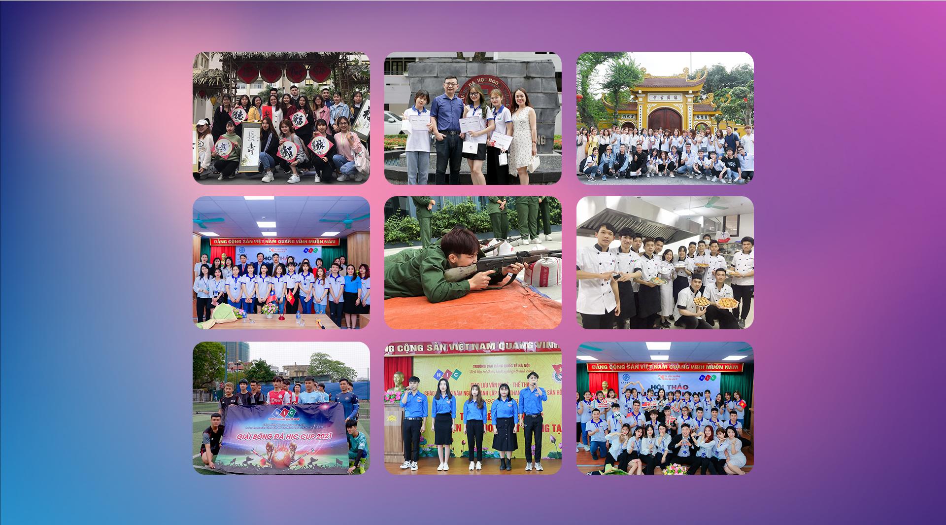 Hoạt động ngoại khóa - Giao lưu văn hóa của sinh viên HIC