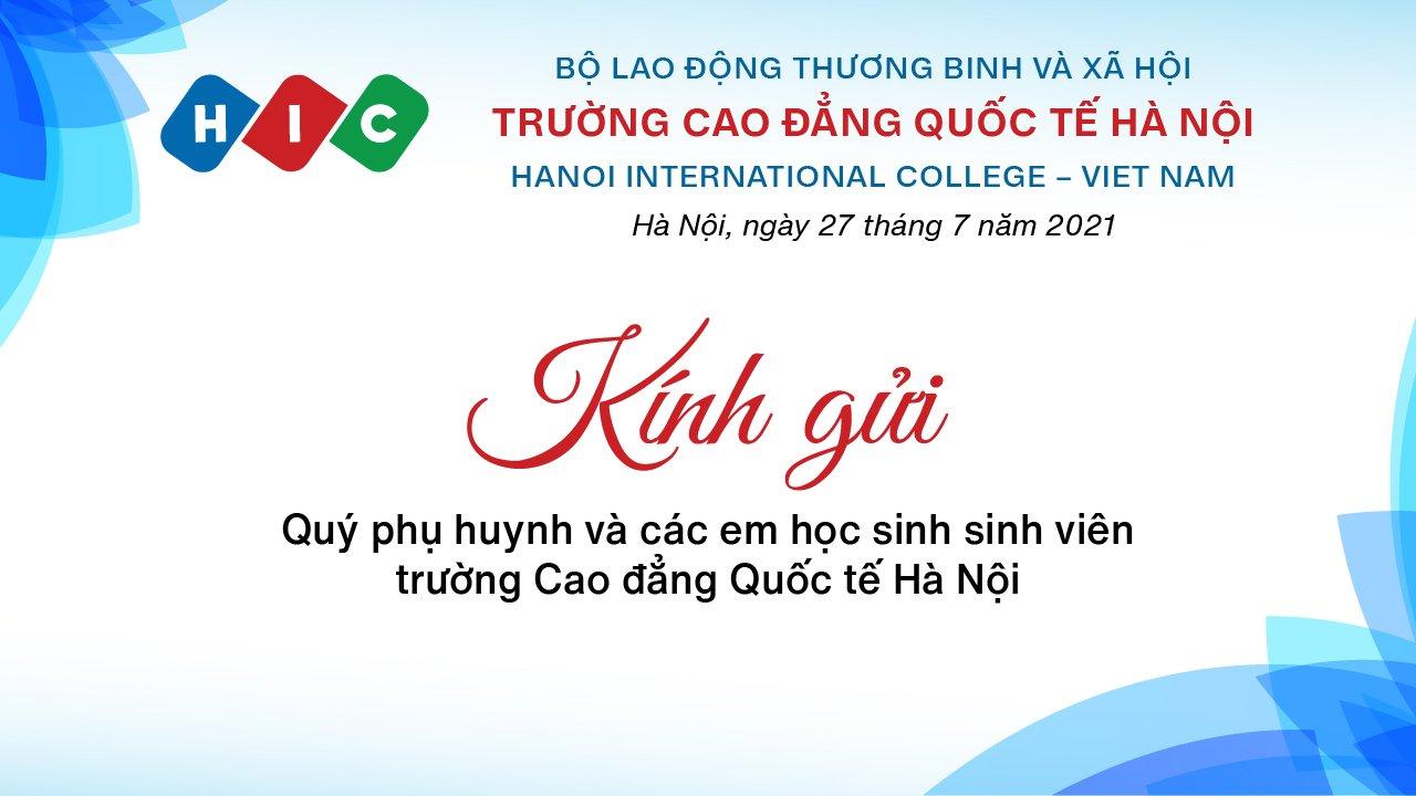 Thư từ Thầy Hiệu trưởng – TS Trương Tuấn Dũng gửi Quý vị phụ huynh và các em học sinh, sinh viên toàn trường